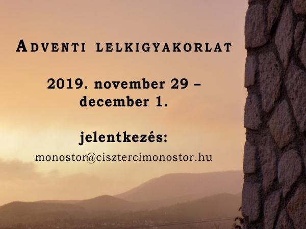 Adventi lelkigyakorlat 2019
